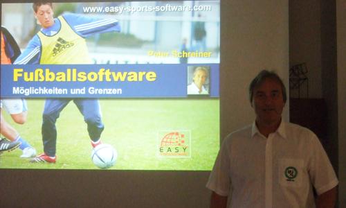Peter Schreiner Vortrag zur Fußballsoftware bei DFB-Tagung