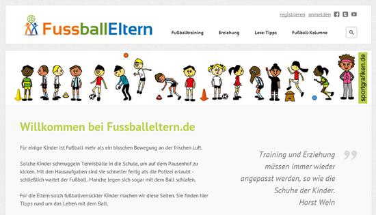 Webseite für Fussball-Eltern
