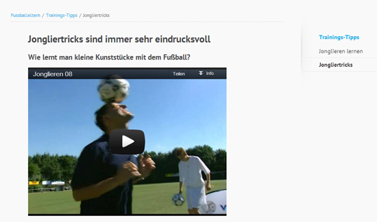 Fussball-Jonglier-Tricks
