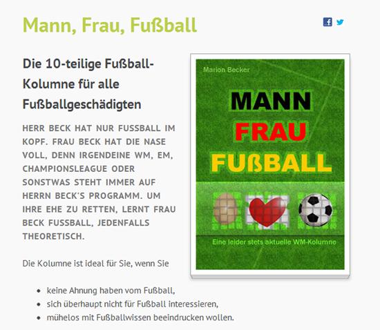 Kolumne Mann-Frau-Fussball
