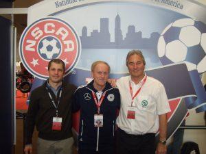 Peter Schreiner (IFJ 96), Ralf Peter (DFB) und Frank Tschan (NSCAA)