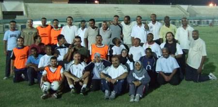 50 Fußballtrainer aus Südägypten, Kairo, Alexandria und 2 Teilnehmer aus den arabischen Emiraten, 1 Teilnehmerin aus Kuwait.