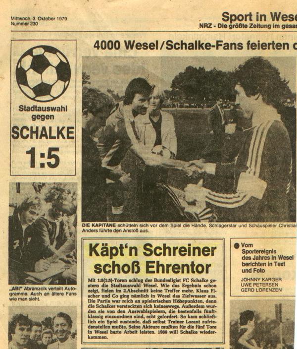 Klaus Fischer und Peter Schreiner bei der Platzwahl 1979