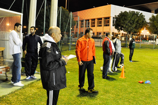 Hani Al Saquer and Nasser Alomran (links - ehem. Nationalspieler Kuwait)