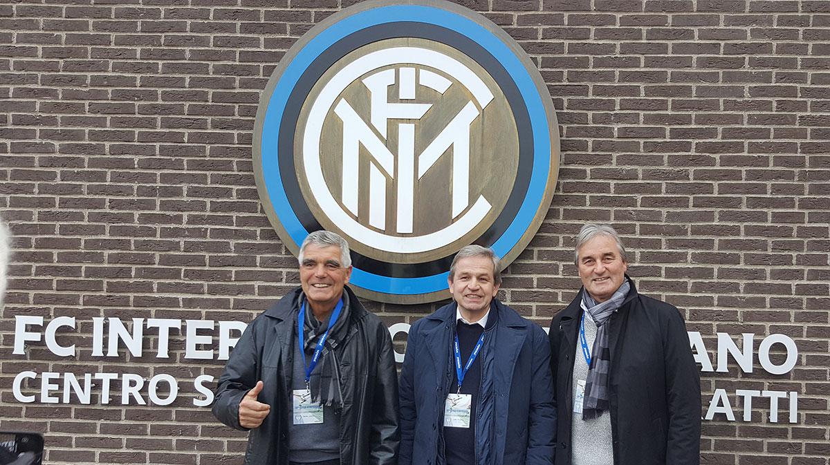 Besuch einer Trainingseinheit im Trainingszentrum von Inter Mailand (Frank Engel, Gerd Thissen und Peter Schreiner)